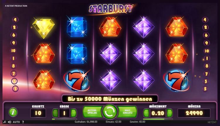 Starburst Spielautomaten