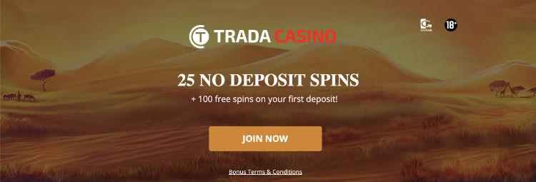 Trada Casino Free Spins ohne Einzahlung