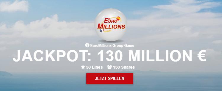 LottoPalace Jackpot: 130 Million Euro
