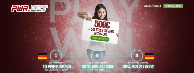 pwr.bet Casino Bonus ohne Einzahlung