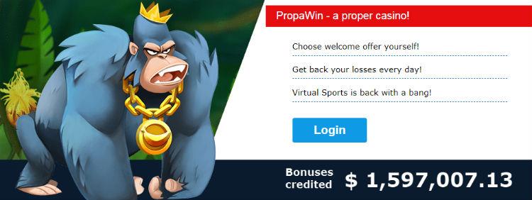 PropaWin Casino Free Spins ohne Einzahlung