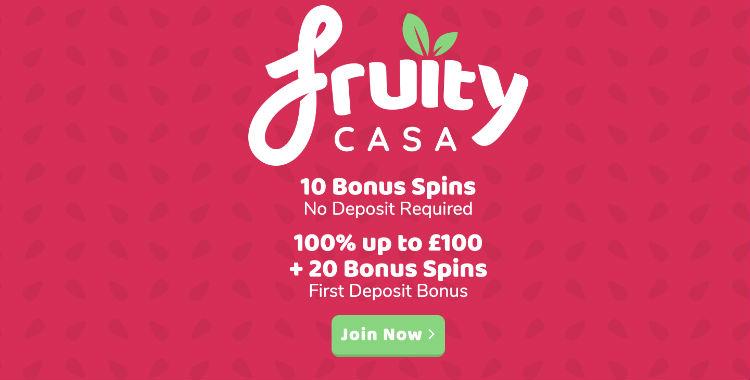 Fruity Casa Casino Free Spins ohne Einzahlung