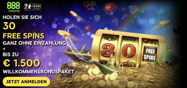 888 Casino Free Spins ohne Einzahlung