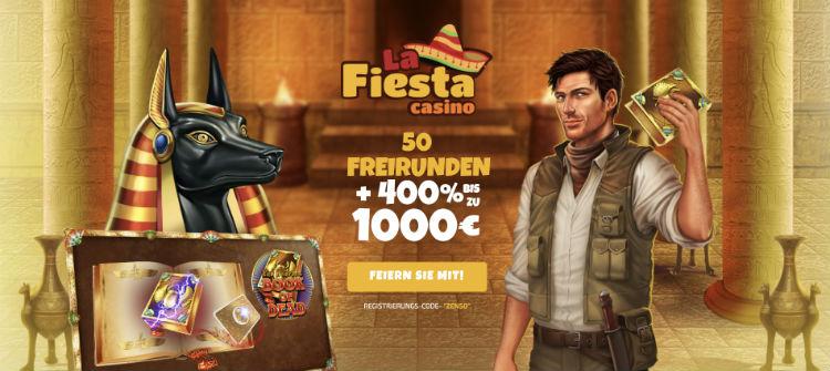 La Fiesta Casino Free Spins ohne Einzahlung