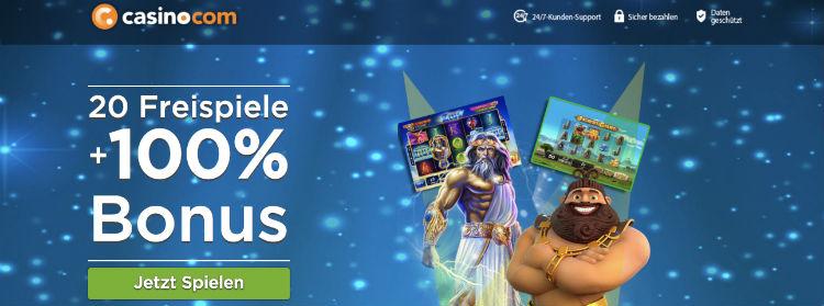 Casino.com Free Spins ohne Einzahlung