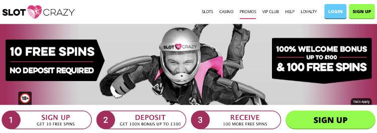 Slot Crazy Casino Free Spins ohne Einzahlung