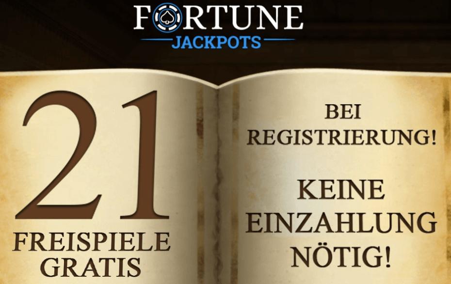 Fortune Jackpots Casino Free Spins ohne Einzahlung