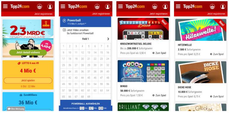 Die Tipp24 App für Android