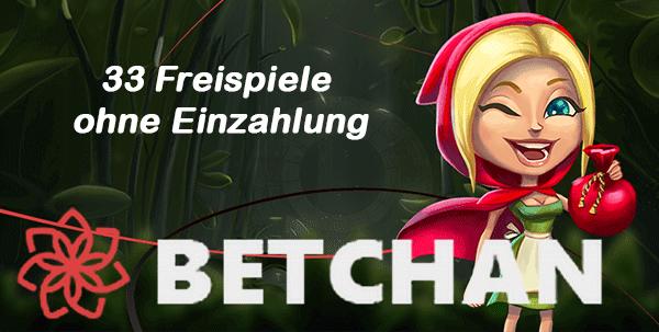 BetChan 33 Freispiele ohne Einzahlung