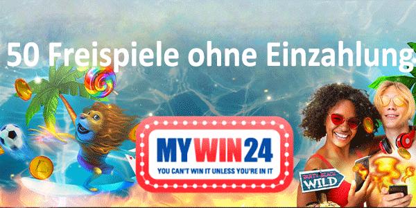 MyWin24 50 Freispiele ohne Einzahlung
