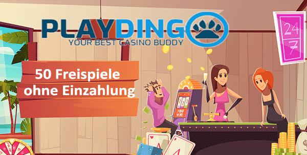 Playdingo 50 Freispiele ohne Einzahlung
