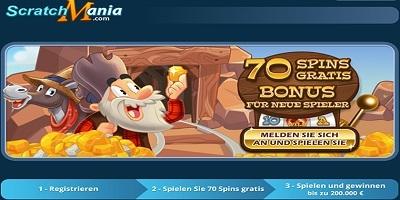 ScratchMania Casino Free spins Bonus