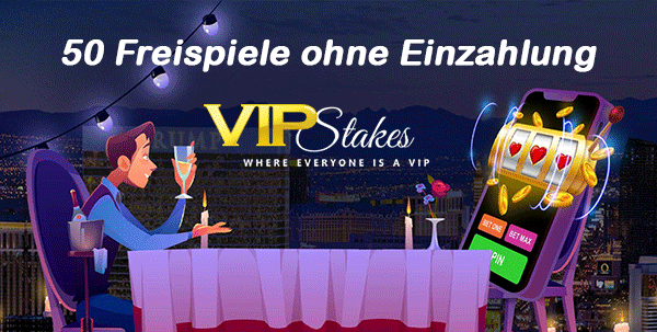 VIP Stakes 50 Freispiele ohne Einzahlung