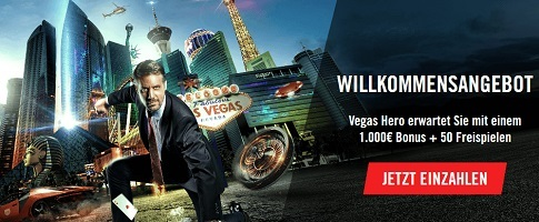 VegasHero Casino Welcome Bonus