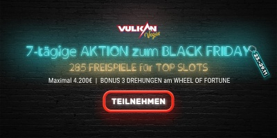 Vulkan Vegas Black Friday